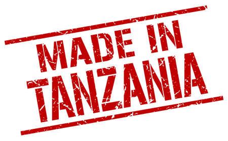 tanzania: made in Tanzania stamp