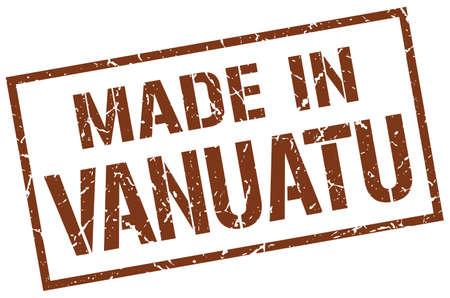 vanuatu: made in Vanuatu stamp Illustration