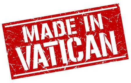 vatican: made in Vatican stamp