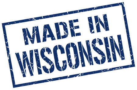 wisconsin: made in Wisconsin stamp Illustration