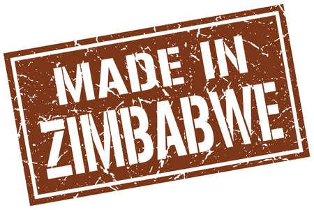 zimbabwe: made in Zimbabwe stamp Illustration