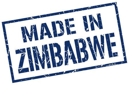 zimbabwe: hecho en sello Zimbabwe Vectores