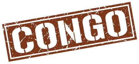 Congo: Congo brown square stamp
