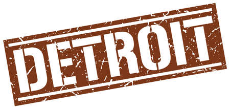 detroit: Detroit brown square stamp