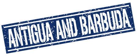 antigua and barbuda: Antigua And Barbuda blue square stamp
