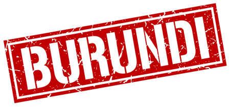 burundi: Burundi red square stamp