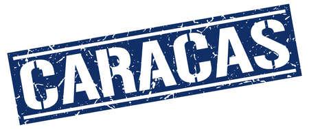 caracas: Caracas blue square stamp