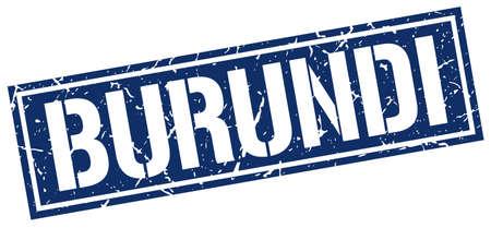 burundi: Burundi blue square stamp