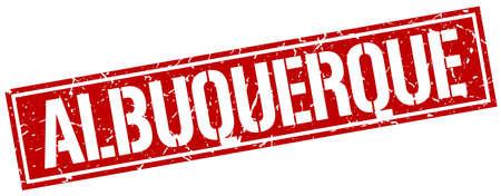albuquerque: Albuquerque red square stamp