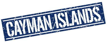 cayman islands: Cayman Islands blue square stamp