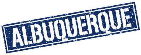 albuquerque: Albuquerque blue square stamp