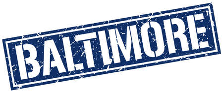 baltimore: Baltimore blue square stamp