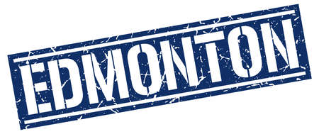 edmonton: Edmonton blue square stamp