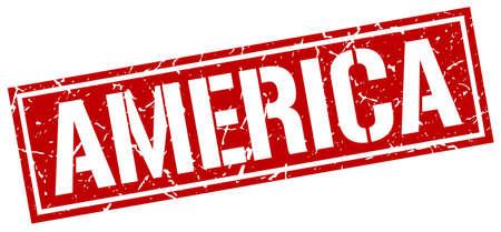red america: America red square stamp