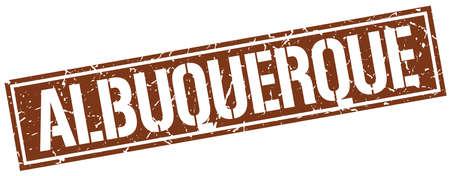 albuquerque: Albuquerque brown square stamp Illustration