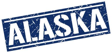 alaska: Alaska blue square stamp