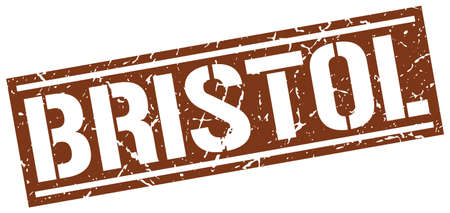 bristol: Bristol brown square stamp