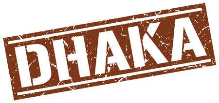 dhaka: Dhaka brown square stamp