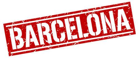 barcelona: Barcelona red square stamp