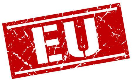 eu: eu red square stamp Illustration