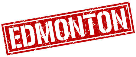 edmonton: Edmonton red square stamp Illustration