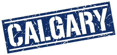 calgary: Calgary blue square stamp
