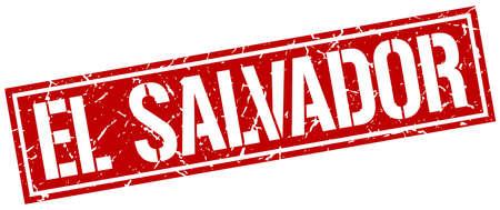 el: El Salvador red square stamp