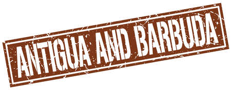 antigua and barbuda: Antigua And Barbuda brown square stamp