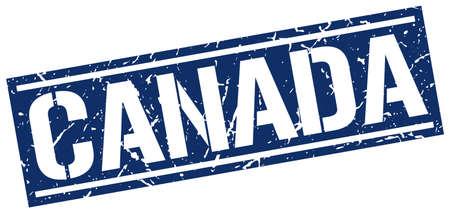 canada stamp: Canada blue square stamp