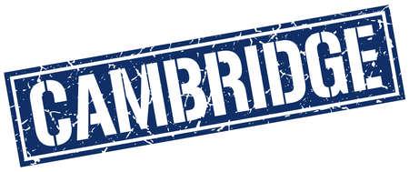 cambridge: Cambridge blue square stamp
