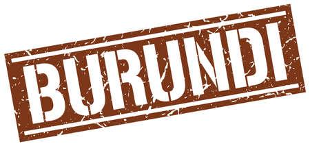 burundi: Burundi brown square stamp Illustration