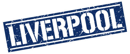liverpool: Liverpool blue square stamp