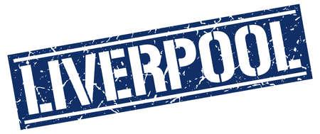 liverpool: Liverpool blue square stamp