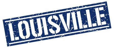 louisville: Louisville blue square stamp Illustration