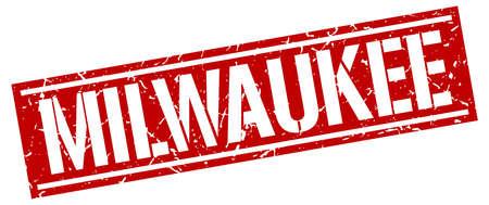 Milwaukee: Milwaukee red square stamp