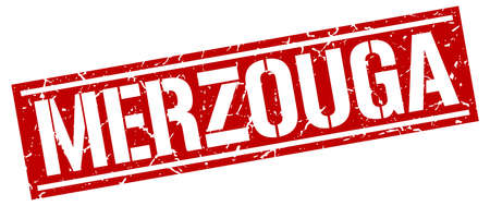 merzouga: Merzouga red square stamp Illustration