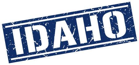 idaho: Idaho blue square stamp