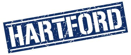 hartford: Hartford blue square stamp