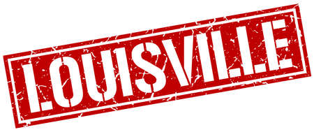 louisville: Louisville red square stamp