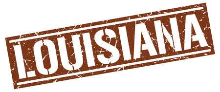 louisiana: Louisiana brown square stamp Illustration