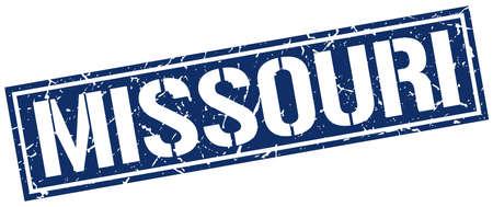missouri: Missouri blue square stamp