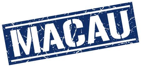 macau: Macau blue square stamp