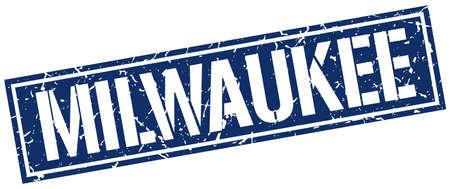 Milwaukee: Milwaukee blue square stamp Illustration