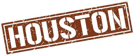houston: Houston brown square stamp Illustration