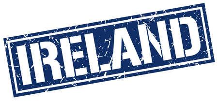 ireland: Ireland blue square stamp Illustration