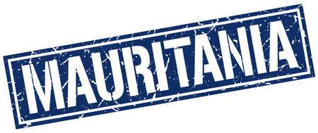 mauritania: Mauritania blue square stamp