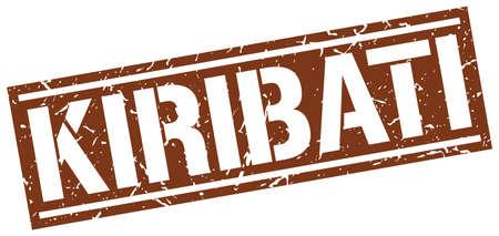 kiribati: Kiribati brown square stamp