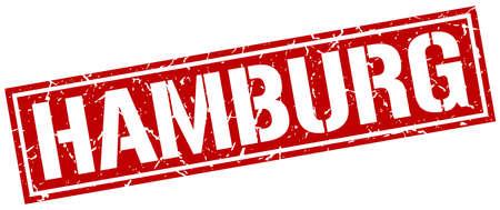 hamburg: Hamburg red square stamp Illustration