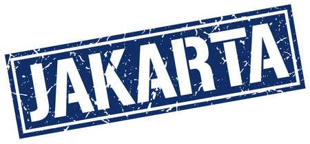 jakarta: Jakarta blue square stamp
