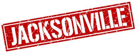 jacksonville: Jacksonville red square stamp Illustration